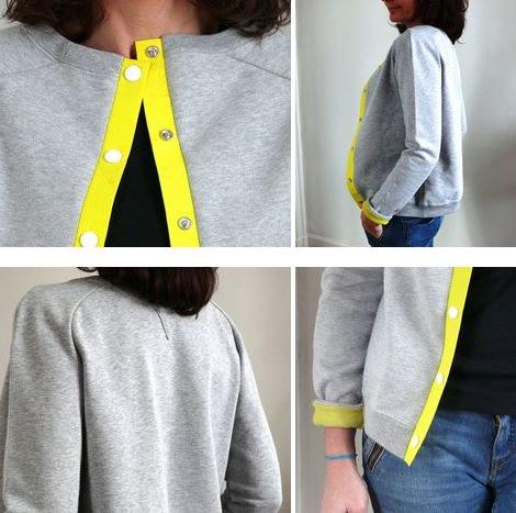 Recicla una sudadera vieja y convi rtela en una chaqueta - Como reciclar ropa interior ...