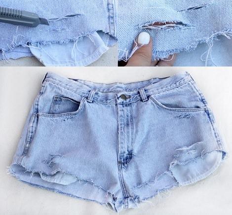 Como rasgar un pantalon