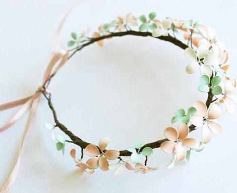 Tocado casero de flores para bodas paso a paso - Material para hacer diademas ...