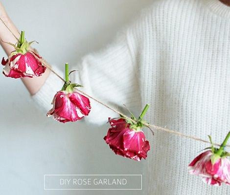 cmo hacer una guirnalda con flores naturales para fiestas - Hacer Guirnaldas