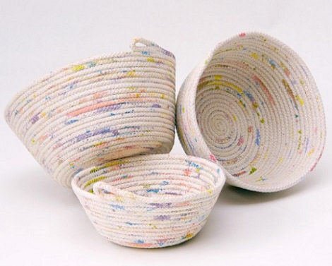 C mo hacer una cesta casera para la ropa con cuerda - Como forrar cestas de mimbre ...