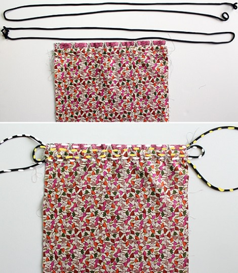 C mo hacer una mochila de tela casera tipo saco - Como hacer bolsos con salvamanteles ...