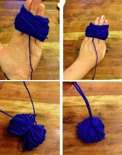 Paso a paso c mo hacer una alfombra de pompones de lana - Como hacer alfombras de lana ...