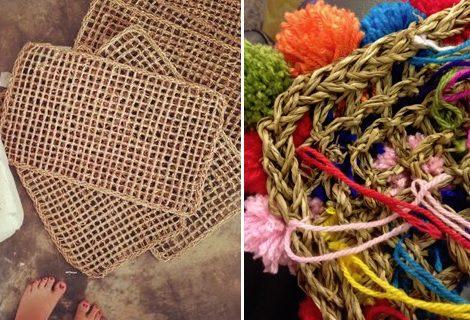 Paso a paso c mo hacer una alfombra de pompones de lana - Como hacer alfombras con trapillo ...