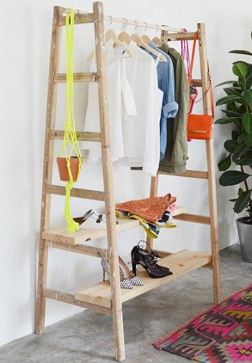 C mo hacer un burro o perchero para la ropa casero for Colgadores de ropa de pared