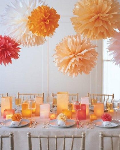 decoracion de papel crepe