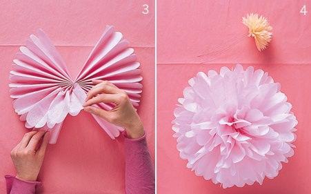 Paper flower backdrop tissue paper flowers paper flower decor birthday - C 243 Mo Hacer Un Pomp 243 N Decorativo De Papel Crep 233