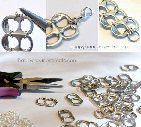 dfddc87a74e1 Paso a paso cómo hacer pulseras con chapas o anillas de latas