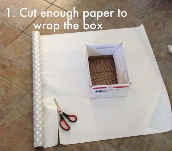 Paso a paso c mo forrar cajas de papel - Forrar cajas de carton con telas ...
