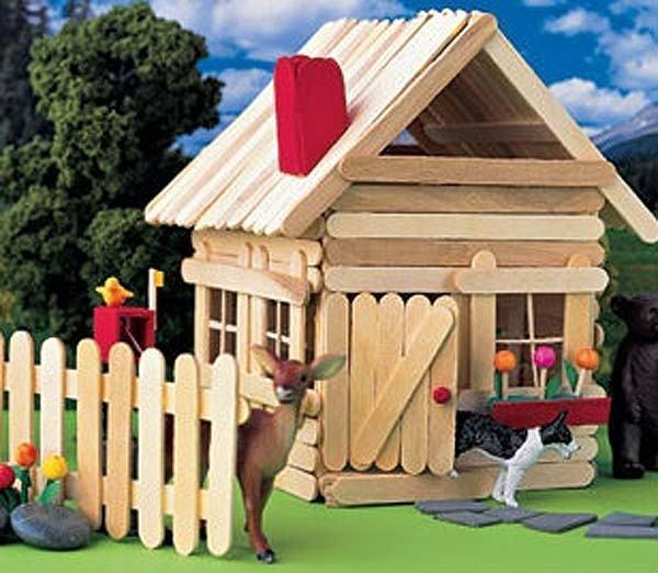 Popsicle Stick House Ideas
