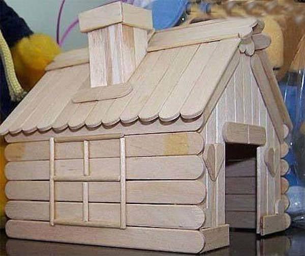 Casas hechas de palitos de helados - Imagui