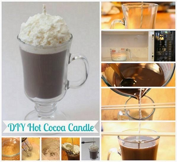 Receta para hacer tus velas de chocolate caseras for Como fabricar velas caseras