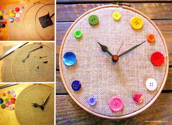manualidad-de-reloj-hecho-con-botones
