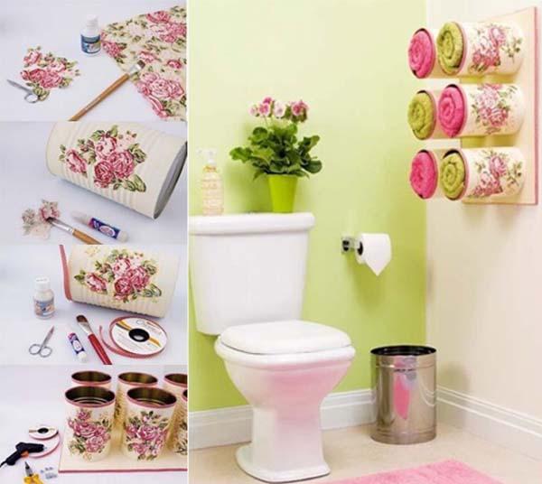 Decoracion De Baños Feos:como-hacer-un-dispensador-de-toallas-para-el-bano