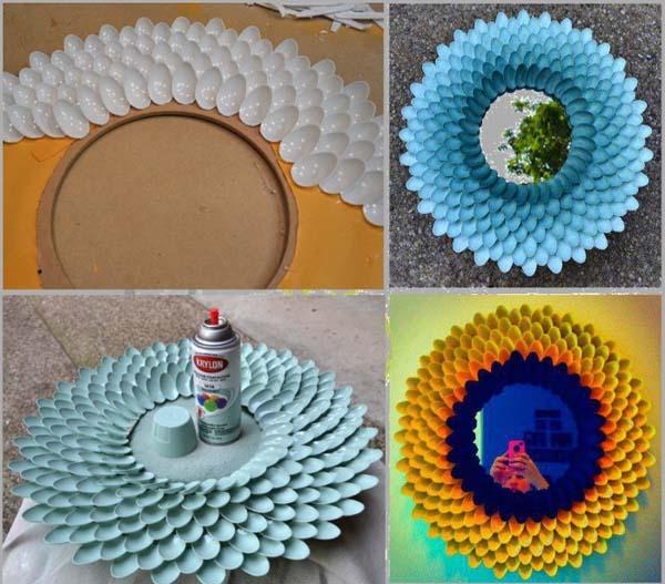 decorar-espejo-con-cucharas-de-plastico