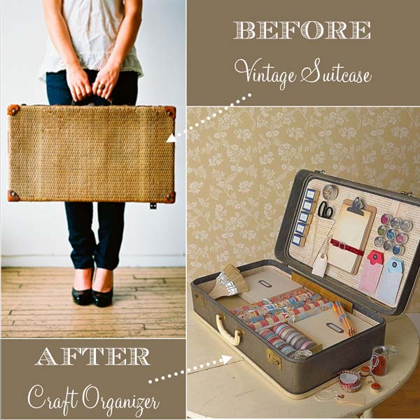 5 manualidades vintage para decorar Homemade craft storage ideas