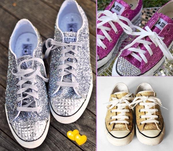 zapatillas converse purpurina