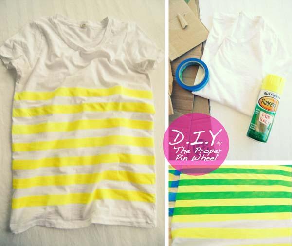 decorar-camiseta-con-lineas-horizontales