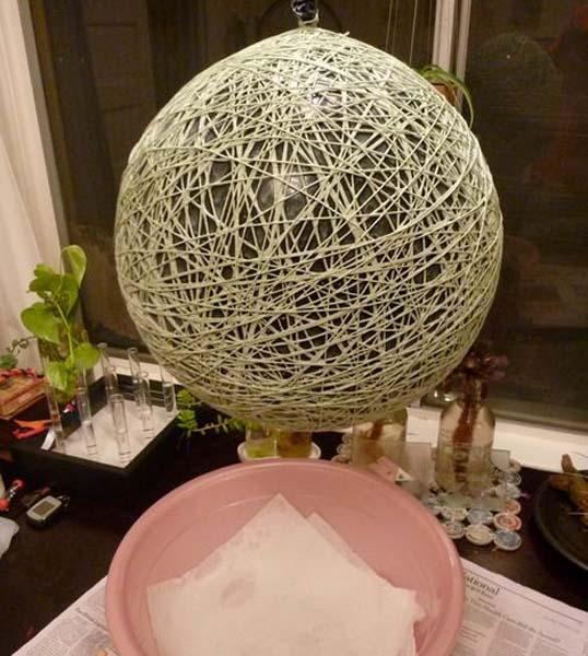 C mo hacer una l mpara de cuerda paso a paso - Como hacer una lampara de mesa ...