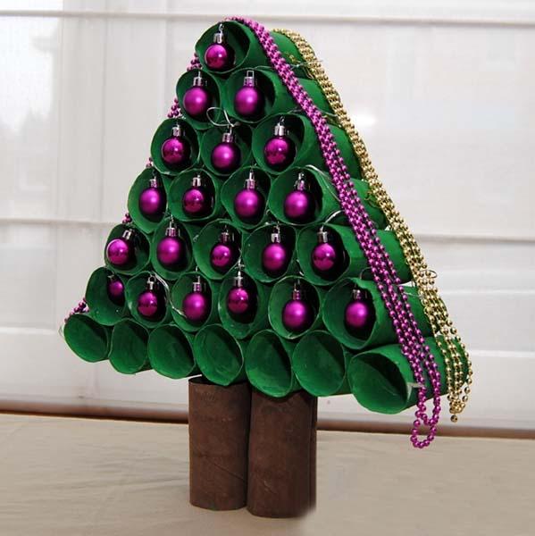 C mo hacer un rbol de navidad diferente for Arbol de navidad con cajas de carton