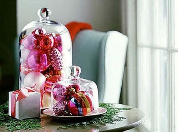 C mo decorar con bolas de navidad - Bolas transparentes para decorar ...