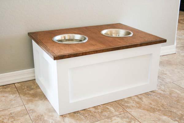 C mo hacer un mueble para la comida del perro - Muebles para mascotas ...