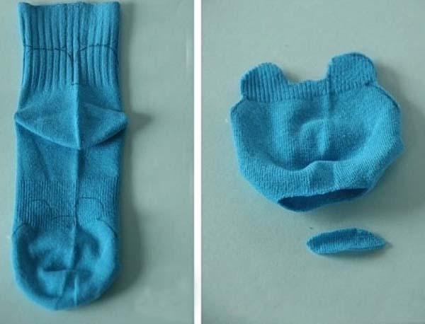 como-hacer-peluche-con-calcetin