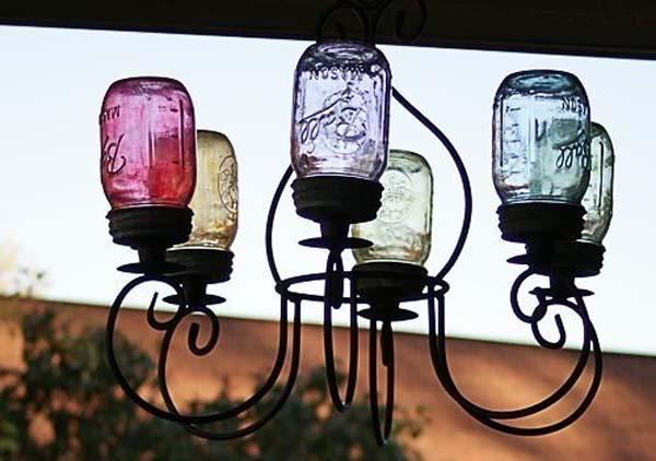 lampara-con-tarros-de-cristal